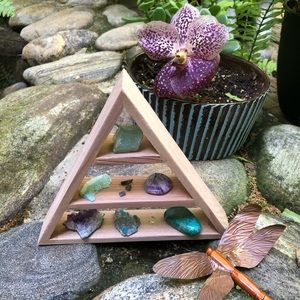 Crystals Included Triangle Shelf